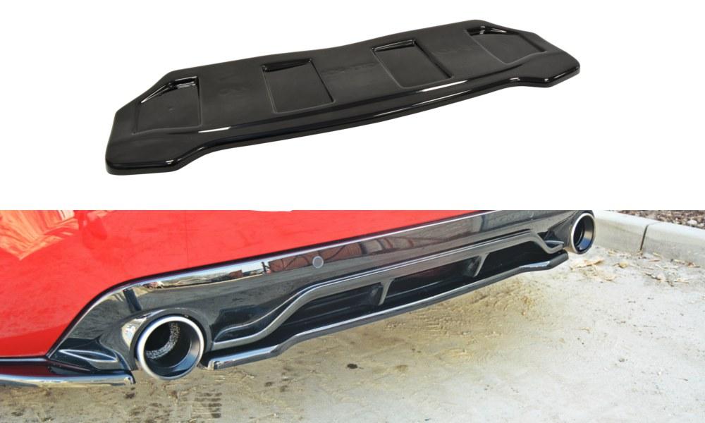 Splitter Tylny Środkowy Peugeot 308 II GTI (Bez dyfuzora) - GRUBYGARAGE - Sklep Tuningowy